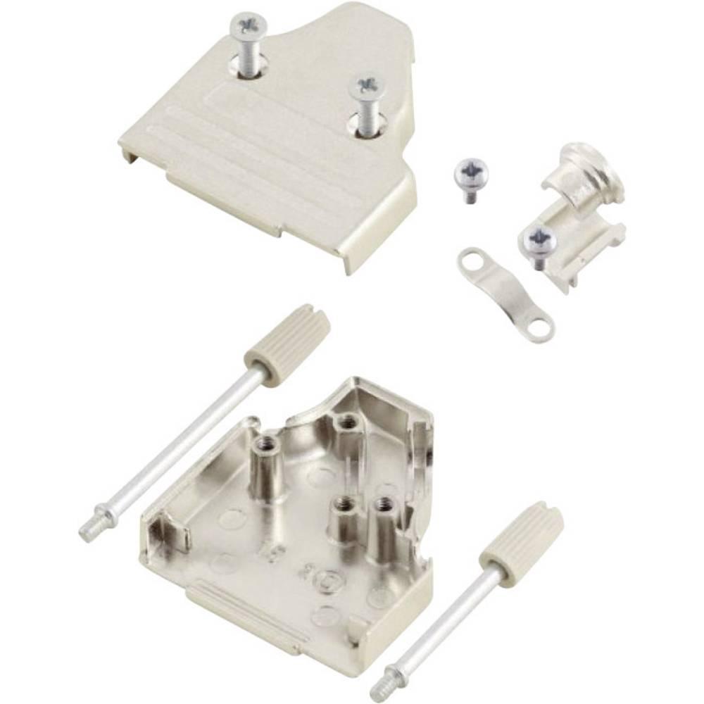 D-SUB ohišje, število polov: 15 kovinska 45 ° srebrne barve MH Connectors MHDM35-15-K 1 kos