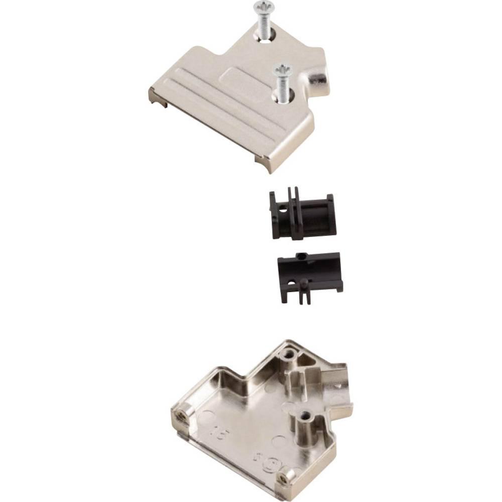 D-SUB ohišje, število polov: 15 kovinska 45 ° srebrne barve MH Connectors MHDVSL15-K 1 kos
