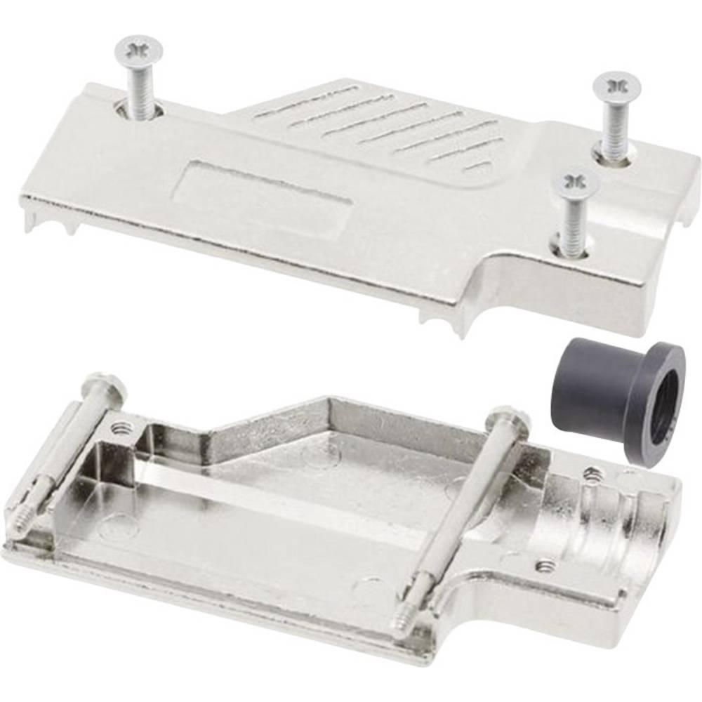 D-SUB ohišje, število polov: 9 kovinska 90 ° srebrne barve MH Connectors MHDCMR09-ULP 1 kos