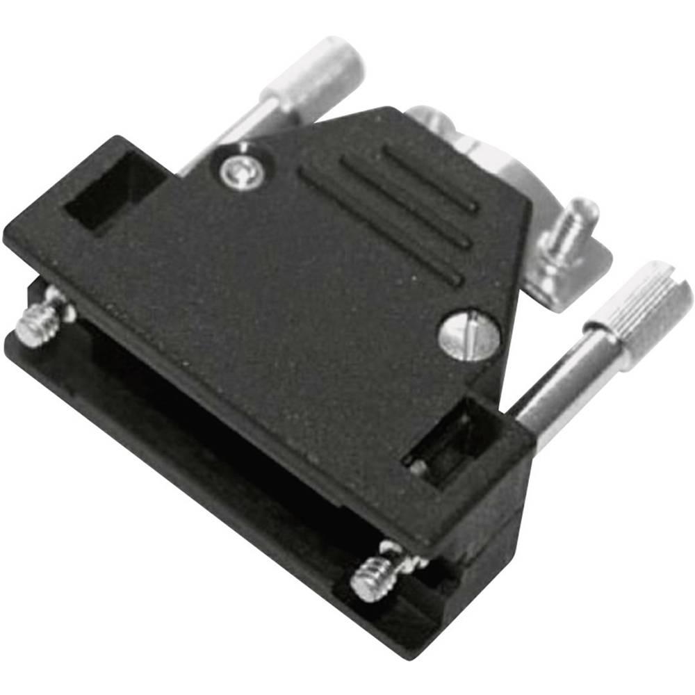 D-SUB ohišje, število polov: 9 iz umetne mase, metalizirano 180 ° srebrne barve MH Connectors 2801-0106-01 1 kos