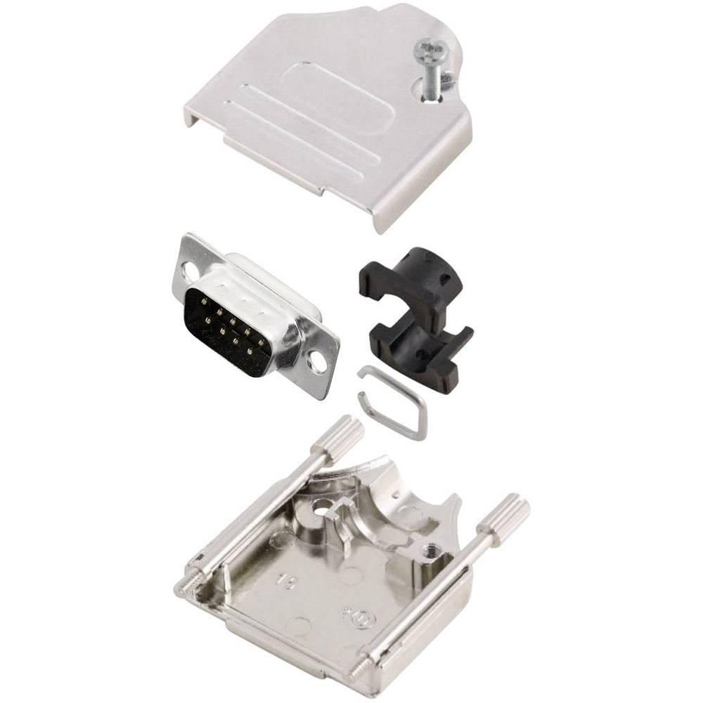 D-SUB vtič 180 ° število polov: 9 s spajkalno posodo MH Connectors MHDTZK9-DM9P-K 1 kos