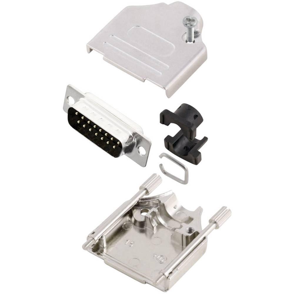 D-SUB vtič 180 ° število polov: 15 s spajkalno posodo MH Connectors MHDTZK15-DM15P-K 1 kos