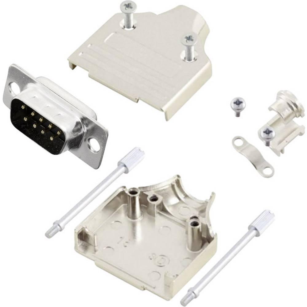 D-SUB vtič 180 ° število polov: 9 s spajkalno posodo MH Connectors MHDM9-DM9P-K 1 kos