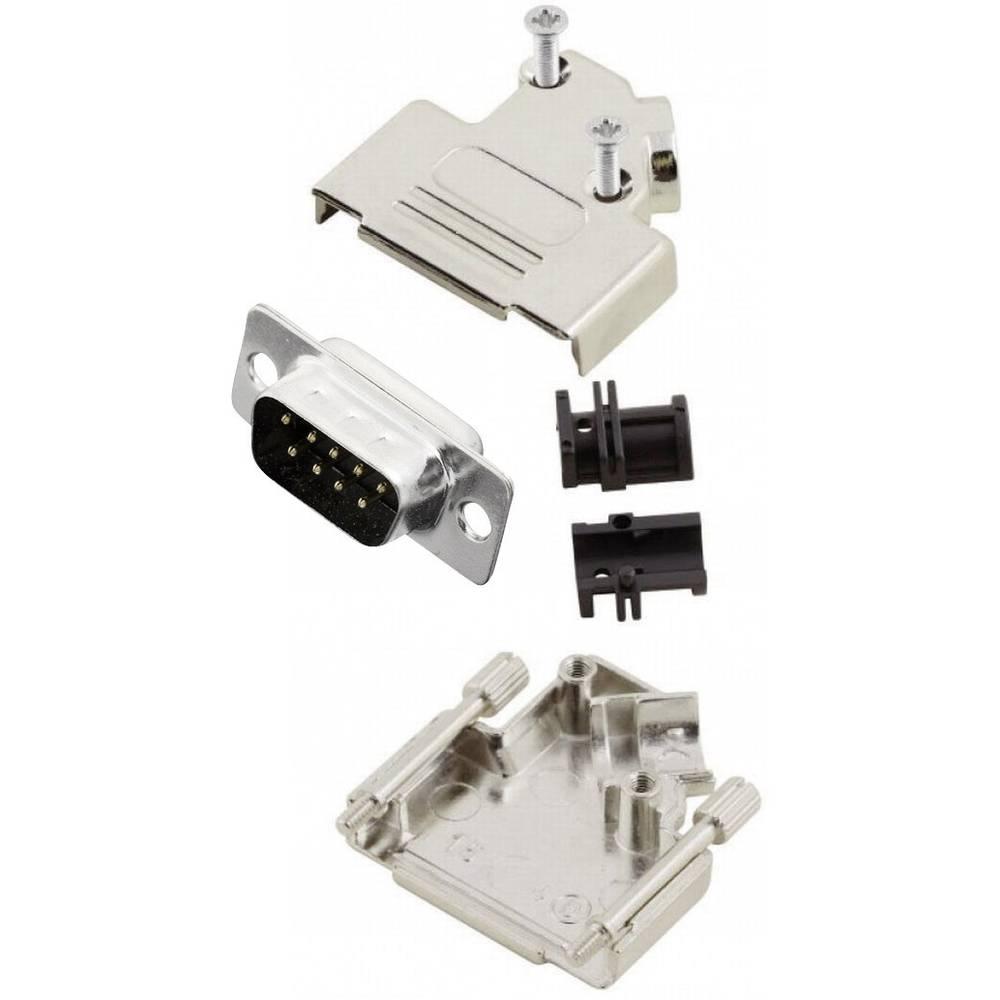 D-SUB vtič 45 ° število polov: 9 s spajkalno posodo MH Connectors MHD45ZK9-DB9P-K 1 kos