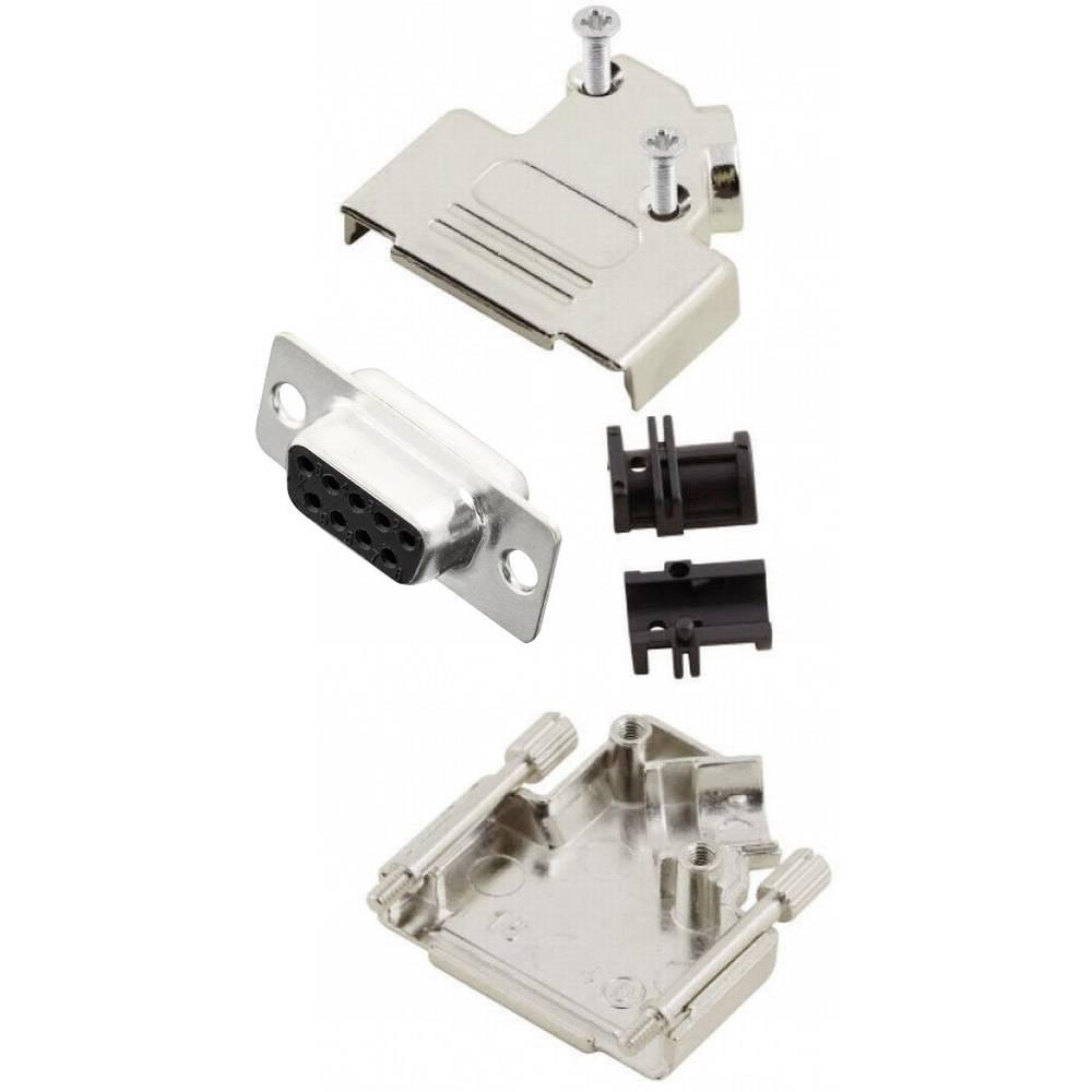 D-SUB vtičnica 45 ° število polov: 9 s spajkalno posodo MH Connectors MHD45ZK9-DM9S-K 1 kos