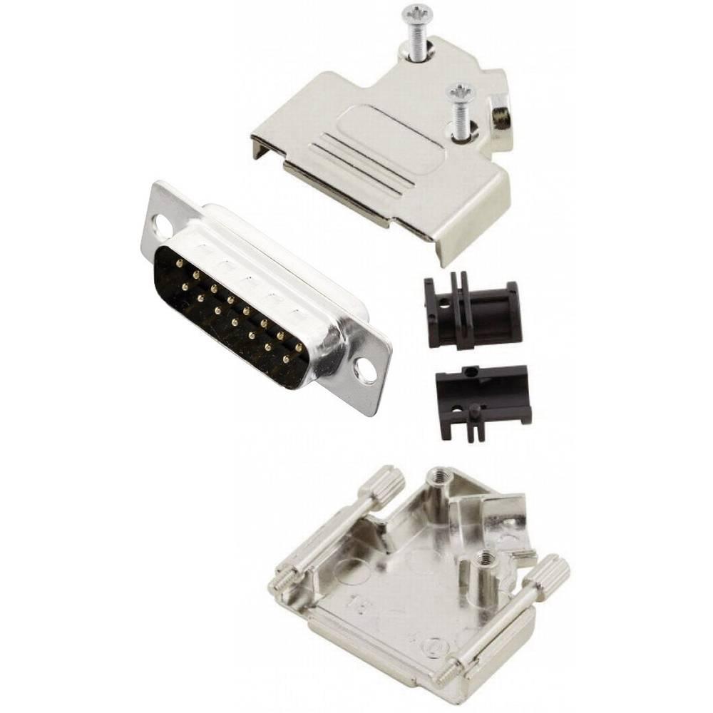 D-SUB vtič 45 ° število polov: 15 s spajkalno posodo MH Connectors MHD45ZK15-DB15P-K 1 kos