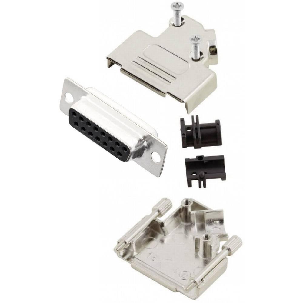 D-SUB vtičnica 45 ° število polov: 15 s spajkalno posodo MH Connectors MHD45ZK15-DB15S-K 1 kos
