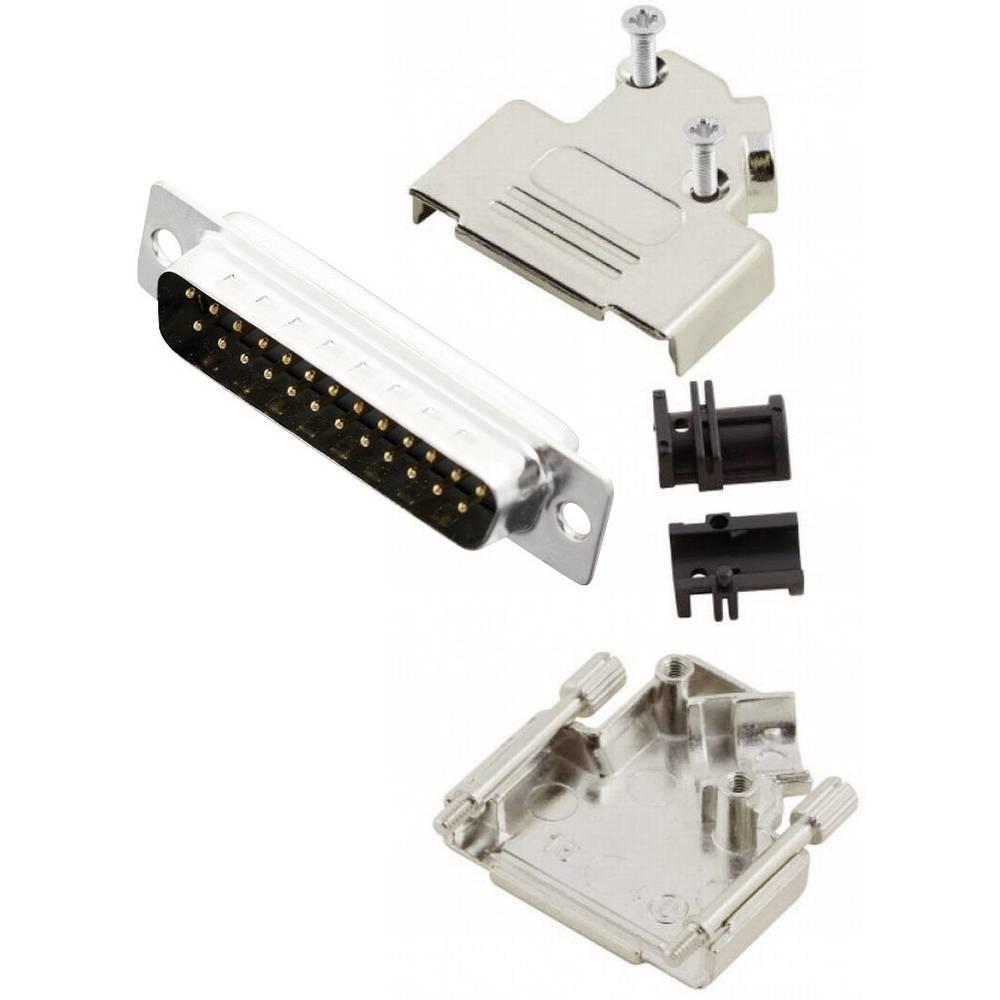 D-SUB vtič 45 ° število polov: 25 s spajkalno posodo MH Connectors MHD45ZK25-DB25P-K 1 kos