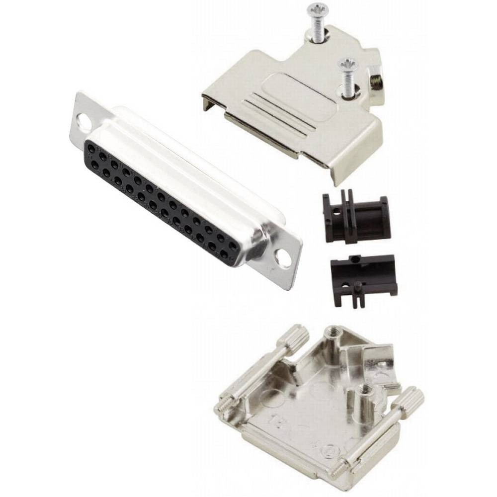 D-SUB vtičnica 45 ° število polov: 25 s spajkalno posodo MH Connectors MHD45ZK25-DB25S-K 1 kos