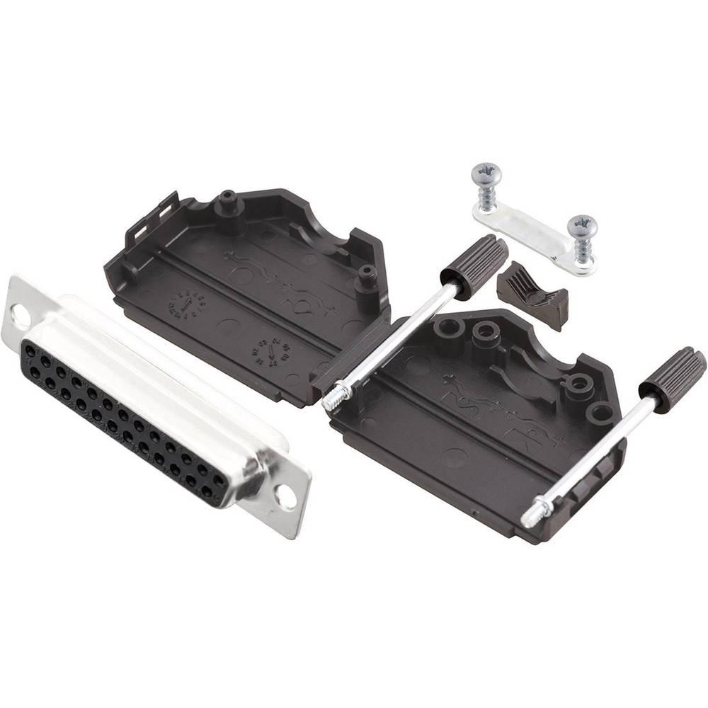 D-SUB vtičnica 180 ° število polov: 25 s spajkalno posodo MH Connectors MHDPPK25-DB25S-K 1 kos