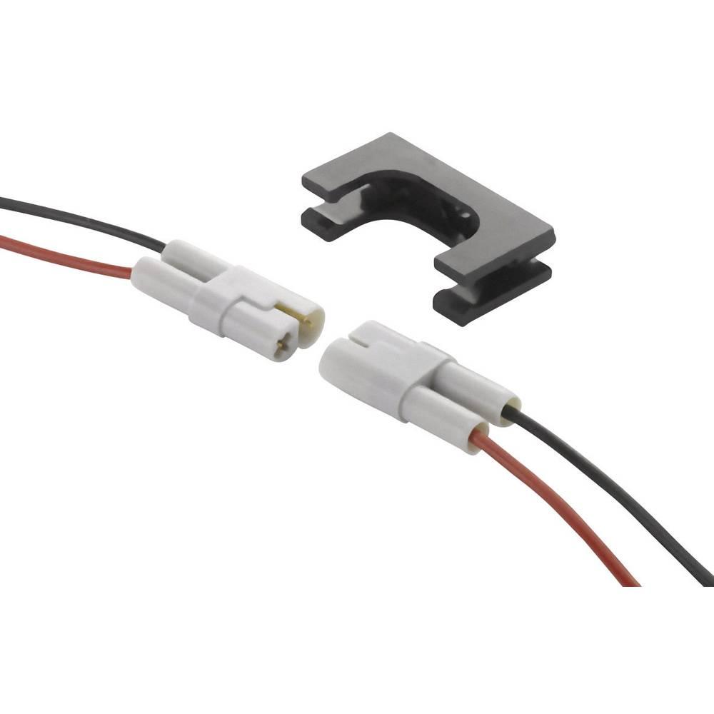 Unisex-kabelski vtični konektor,za-priključni kabel poli: 2 vklj. s prameni črne barve/rdeče barve 8.5 A 520-210-002-ASSY EDAC 1