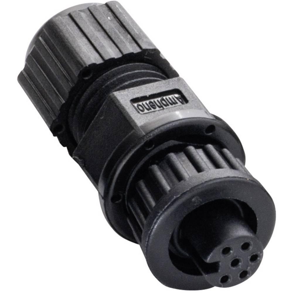 Miniaturni-okrogli vtični konektor, poli: 6 2655-0100-07 Amphenol LTW 1 kos