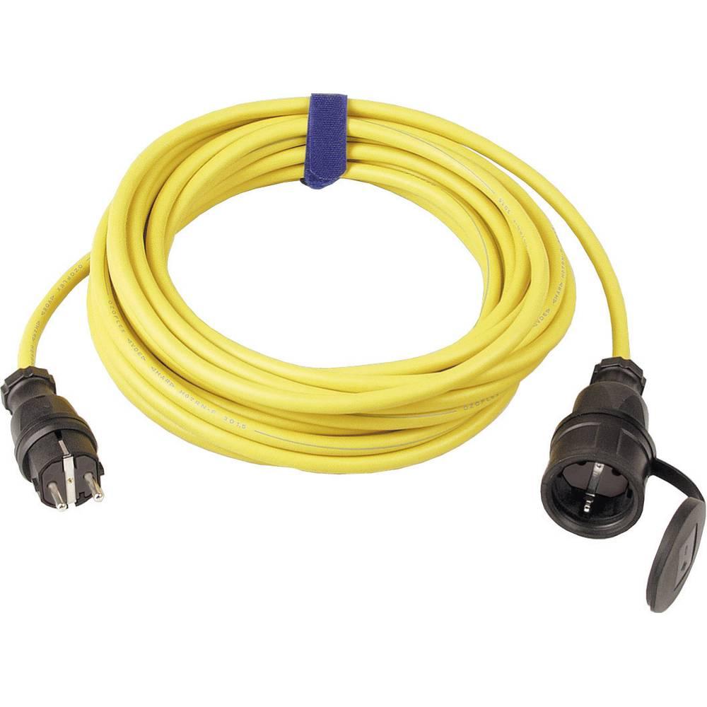 Strujni produžni kabel SIROX [ gumeni šuko utikač - gumena šuko utičnica] 16 A, žuta, 25 m 644.125.05
