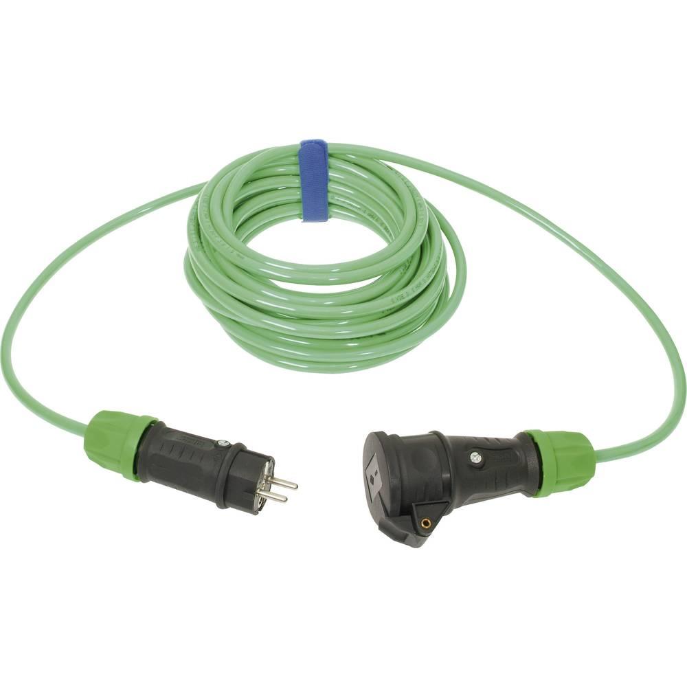 Strujni produžni kabel SIROX [ gumeni šuko utikač - gumena šuko utičnica] 16 A, zelena, 10 m 649.010.07
