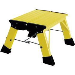 Aluminijasta dvojna, zložljiva lestev, delovna višina (maks.): 2.20 m Krause Treppy PlusLine 130334 rumene barve 1.8 kg