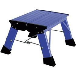 Aluminijasta dvojna, zložljiva lestev, delovna višina (maks.): 2.20 m Krause Treppy PlusLine 130341 modre barve 1.8 kg