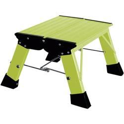 Aluminijasta dvojna, zložljiva lestev, delovna višina (maks.): 2.20 m Krause Treppy PlusLine 130365 zelene barve 1.8 kg