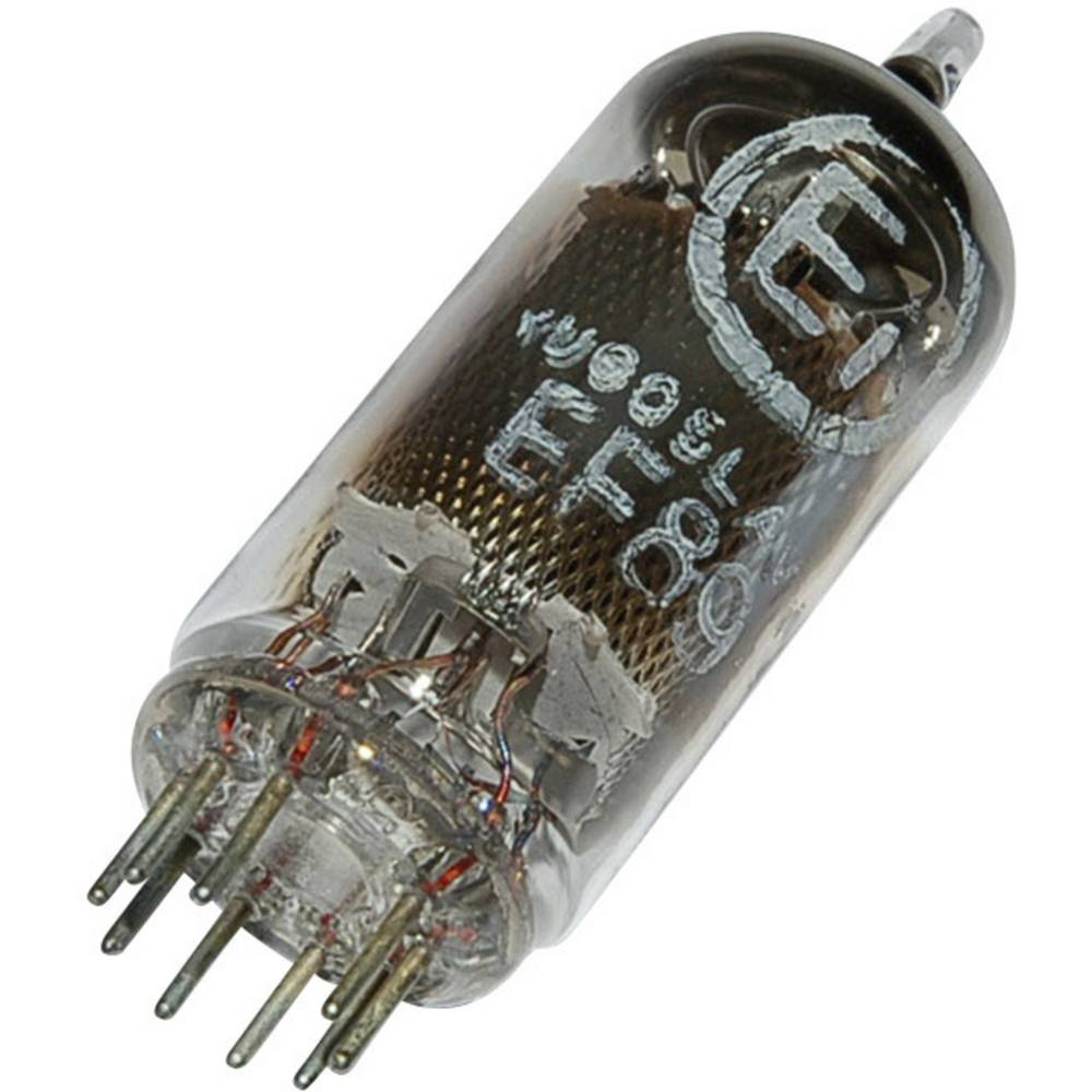 Elektronska cijev EF 89 = 6 DA6 polovi: 9 Sockel Noval, opis: HF-Regelpentoda