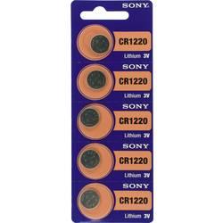 Gumbna baterija CR 1220 litijeva Sony CR 1220 40 mAh 3 V, 5 kosov