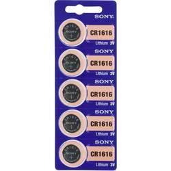 Gumbna baterija CR 1616 litijeva Sony CR 1616 60 mAh 3 V, 5 kosov