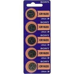 Gumbna baterija CR 1620 litijeva Sony CR 1620 78 mAh 3 V, 5 kosov
