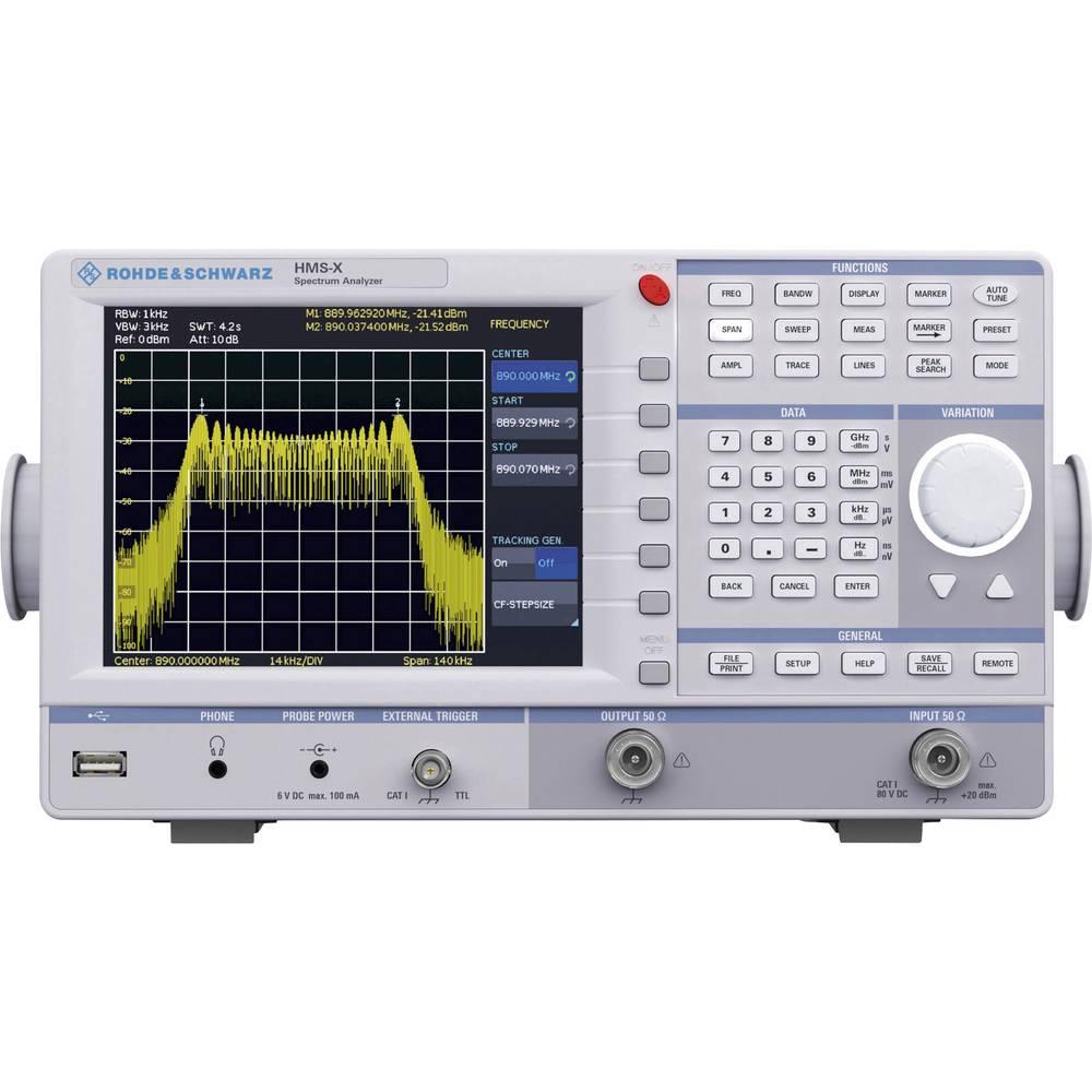 Rohde & Schwarz HMS-X spektralni analizator, frekvenčno območje 100 kHz - 1.6 GHz, pasovna širina (RBW) 10 kHz - 1 MHz