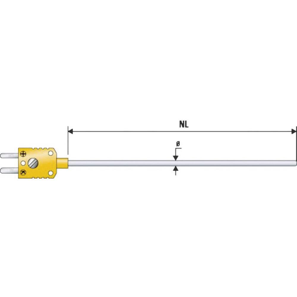 Potopno tipalo B+B Thermo-Technik MTE z miniaturnim vtičem -200 do 1100 °C K