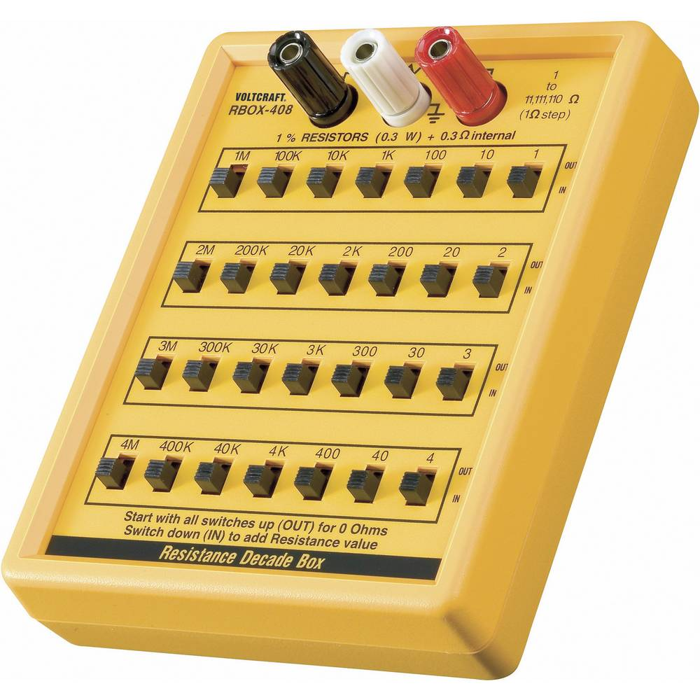VOLTCRAFT® R-BOX01 merilna, upornostna dekada 1 - 1111110 35 V - ISO kalibriran