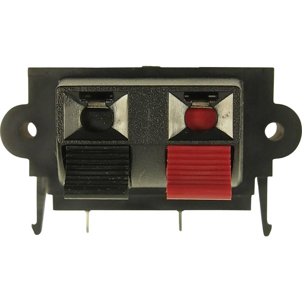 Vtični konektor za zvočnik prek vtičnice, vgraden vertikalen število polov: 2 Cliff FE6935 1 kos