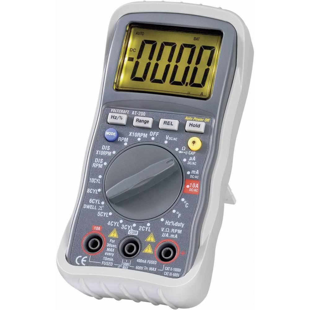 Ročni multimeter, digitalni VOLTCRAFT AT-200 kalibracija narejena po: DAkkS avtomobilska merilna funkcija CAT III 600 V število