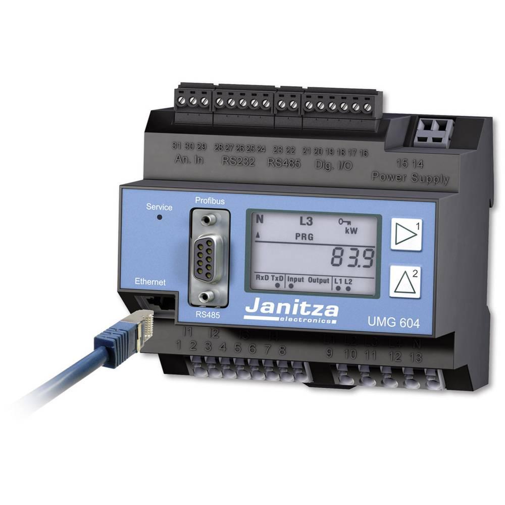 Kal.-ISO Janitza UMG 604E BACnet omrežni analizator CAT III, 300 V 52.16.002/52.16.081