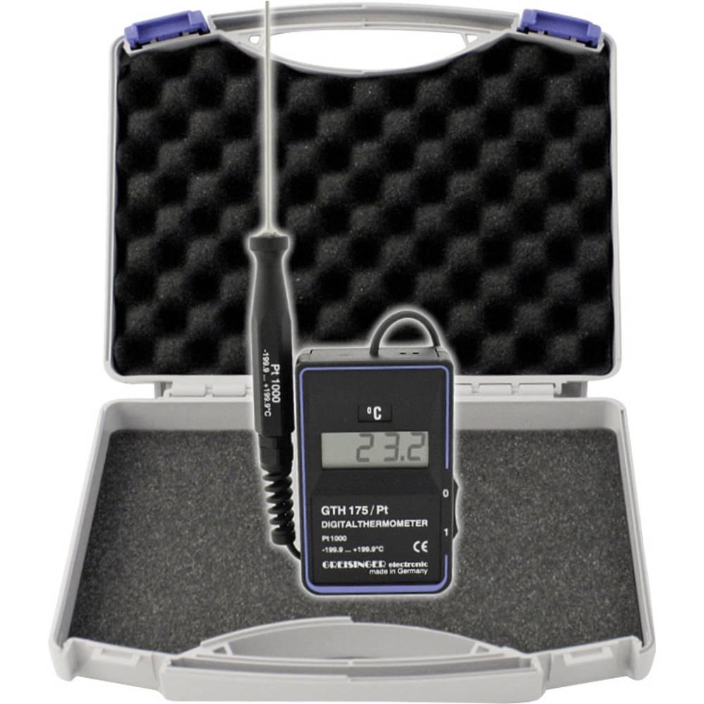 Merilnik temperature Greisinger GTH 175/PT - WPT3 -199.9 do +199.9 °C vrsta tipala: Pt1000 kalibracija narejena po: delovnih sta