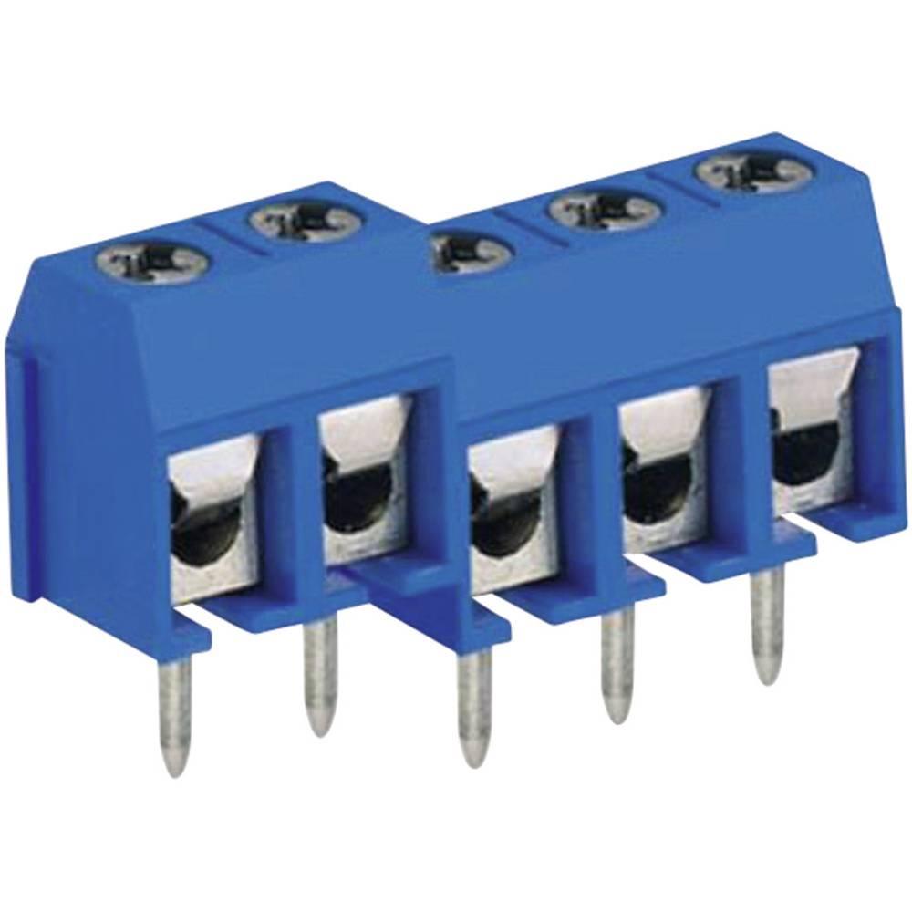 Skrueklemmeblok DECA MA412-500M03 1.50 mm² Poltal 3 Blå 1 stk