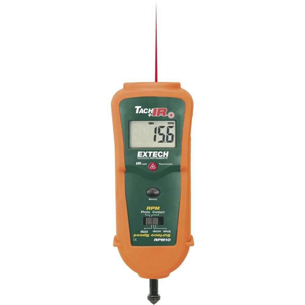 Kalib. ISO-Laserski mjerač broja okretajaRPM10 Extech