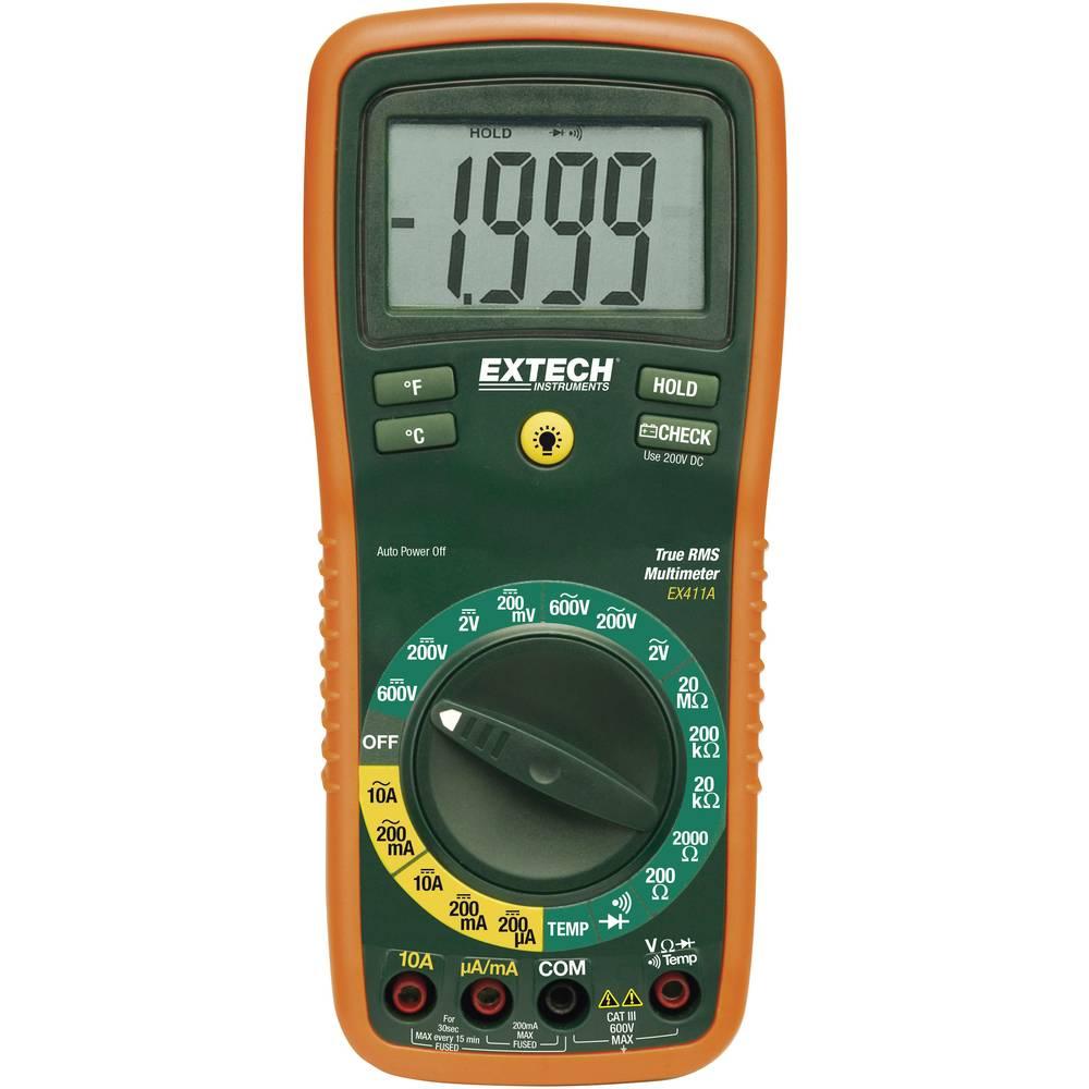 Ročni multimeter, digitalni Extech EX411A kalibracija narejena po: delovnih standardih, CAT III 600 V število znakov na zaslonu: