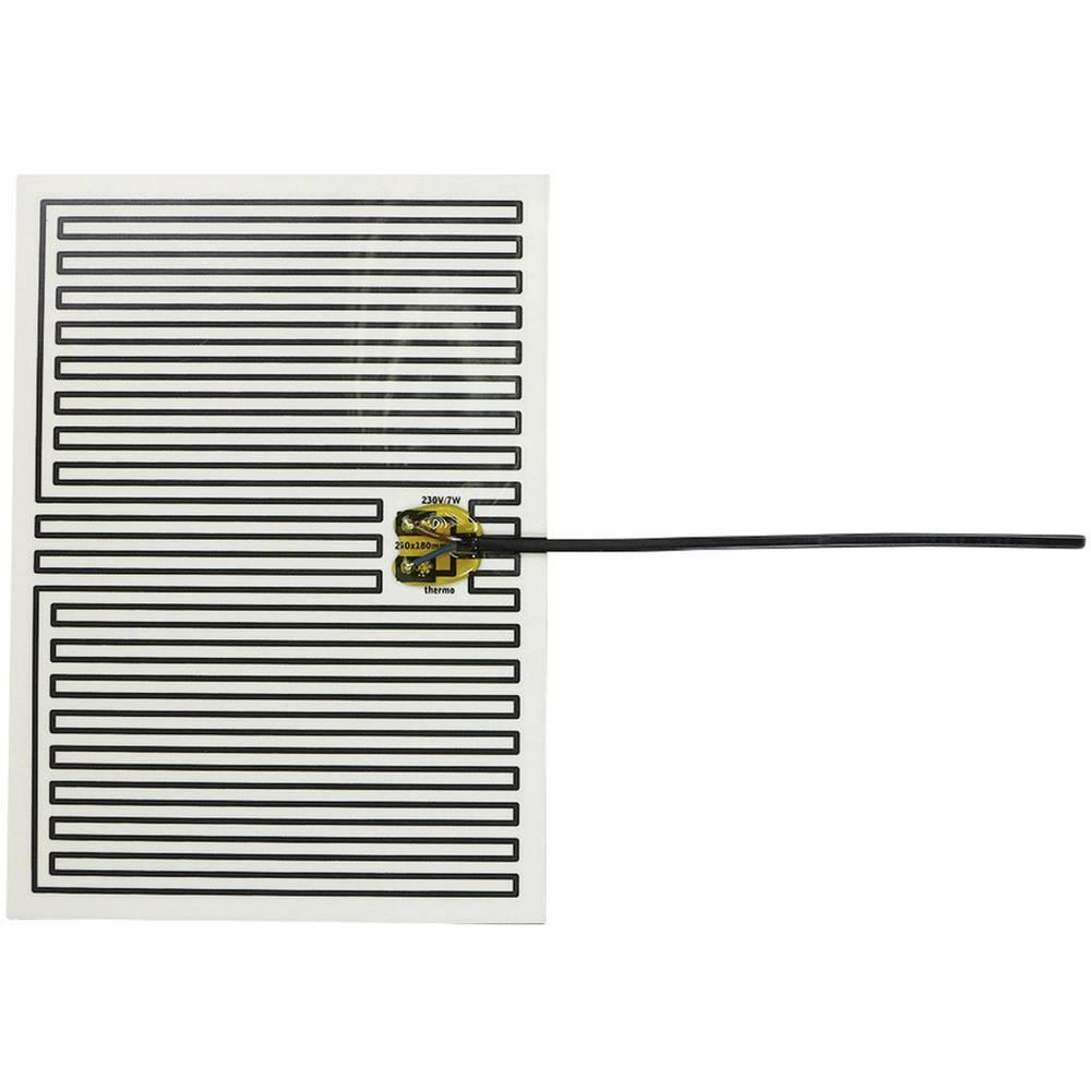 Polyester Varmefolie selvklæbende 230 V/AC 7 W Beskyttelsestype IPX4 (L x B) 250 mm x 180 mm Thermo