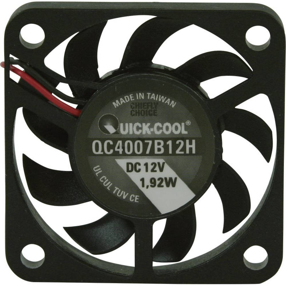 Aksial ventilator 12 V/DC 10.82 m³/h (L x B x H) 40 x 40 x 7 mm QuickCool QC4007B12H