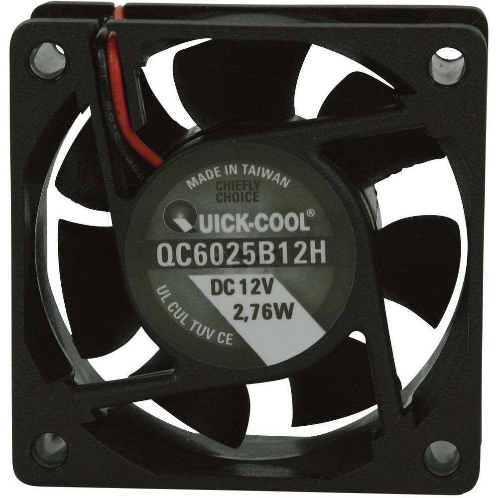 Aksialni ventilator 12 V/DC 34.86 m/h (D x Š x V) 60 x 60 x 25 mm QuickCool QC6025B12H