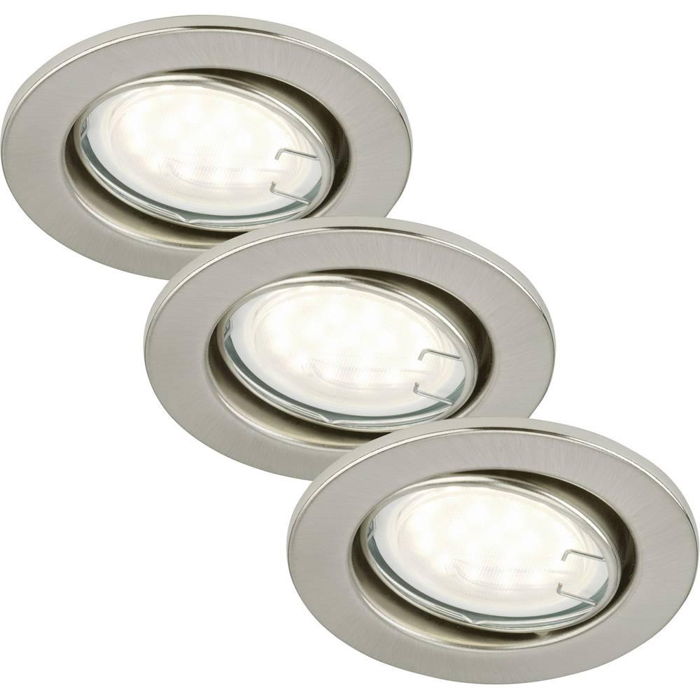 Ugrađeno svjetlo 3-dijelni komplet LED GU10 9 W Briloner 7208-032 Nikal (mat)
