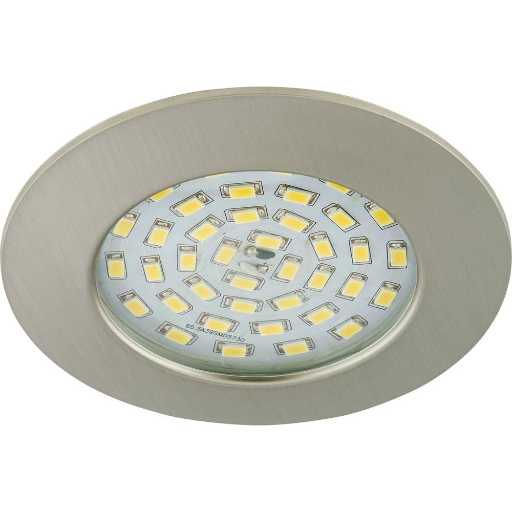 LED ugradno svjetlo za kupaonicu 10.5 W Toplo-bijela Briloner 7206-012 Nikal (mat)