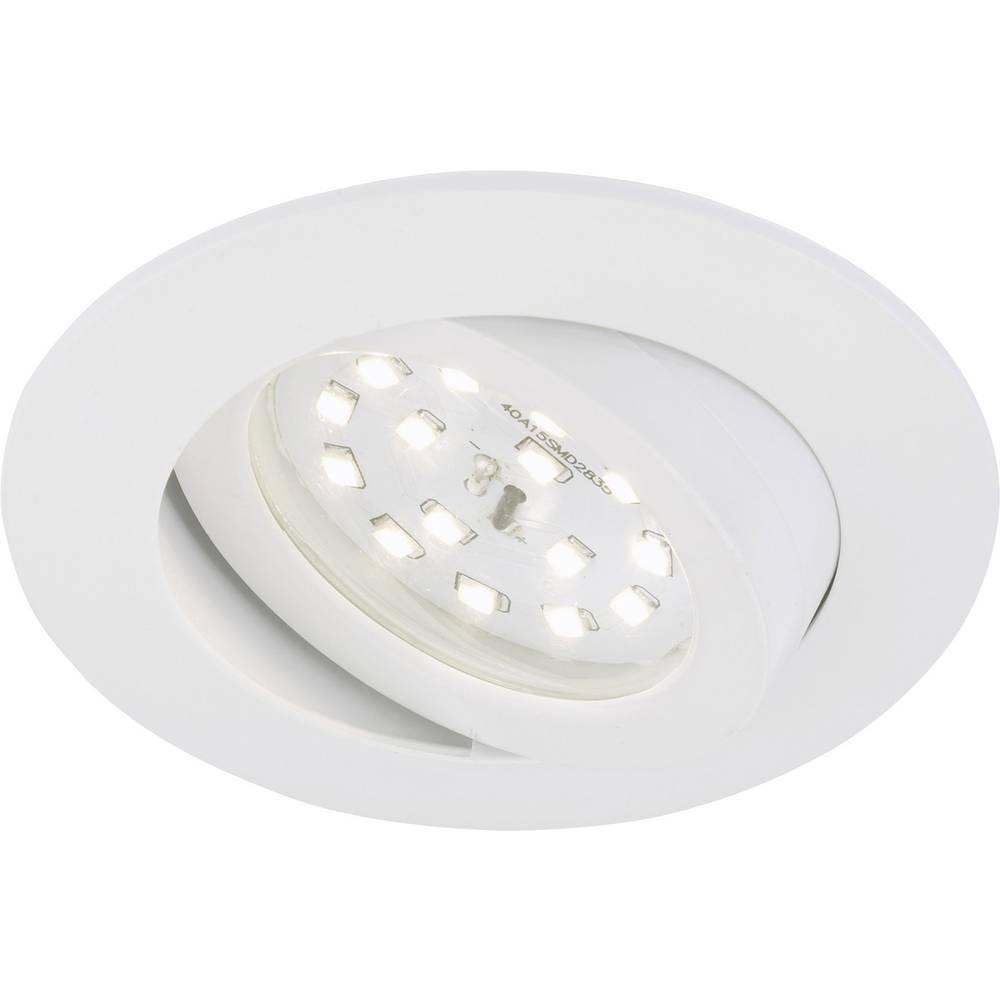 LED ugradna svjetiljka 5 W Toplo-bijela Briloner 7209-016 Bijela