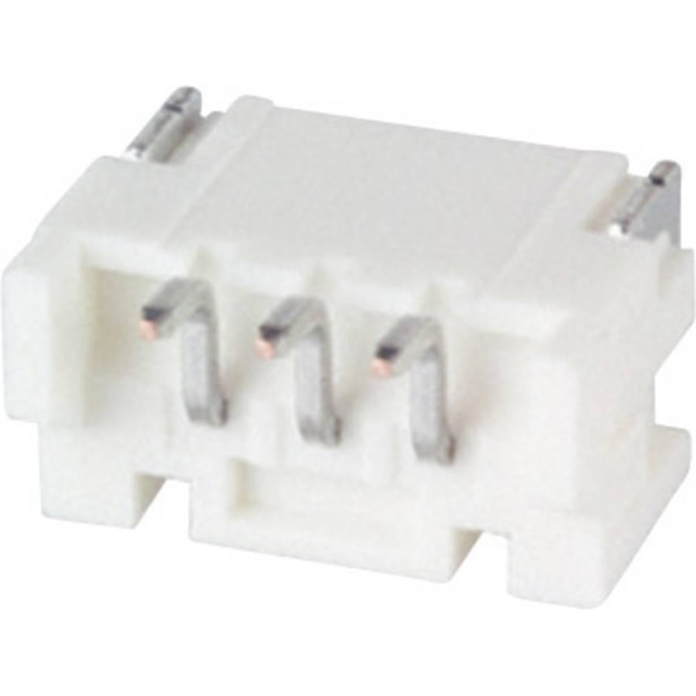 Indbygningsstiftliste (standard) PH (value.1361153) Samlet antal poler 3 JST S3B-PH-SM4-TB (LF)(SN) Rastermål: 2 mm 1 stk