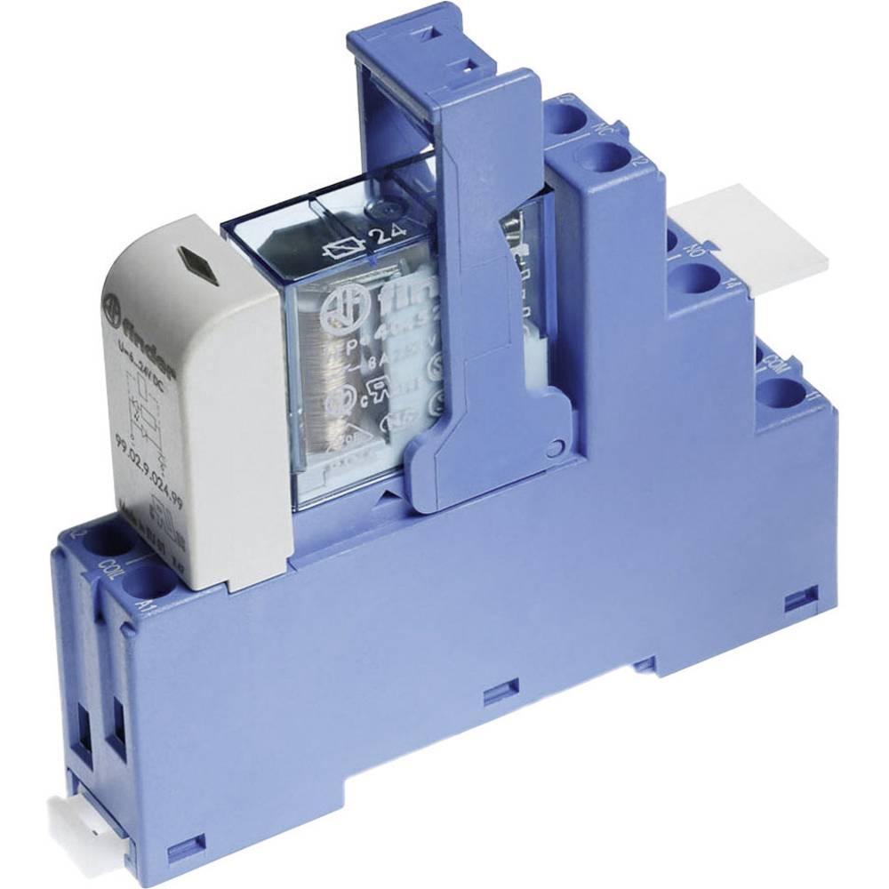 Relækomponent 1 stk Finder 48.52.7.024.0050 Nominel spænding: 24 V/DC Brydestrøm (max.): 8 A 2 x omskifter