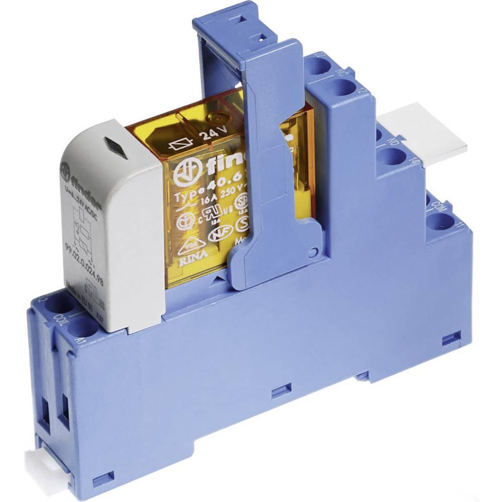Relækomponent 1 stk Finder 48.61.8.230.0060 Nominel spænding: 230 V/AC Brydestrøm (max.): 16 A 1 x skiftekontakt