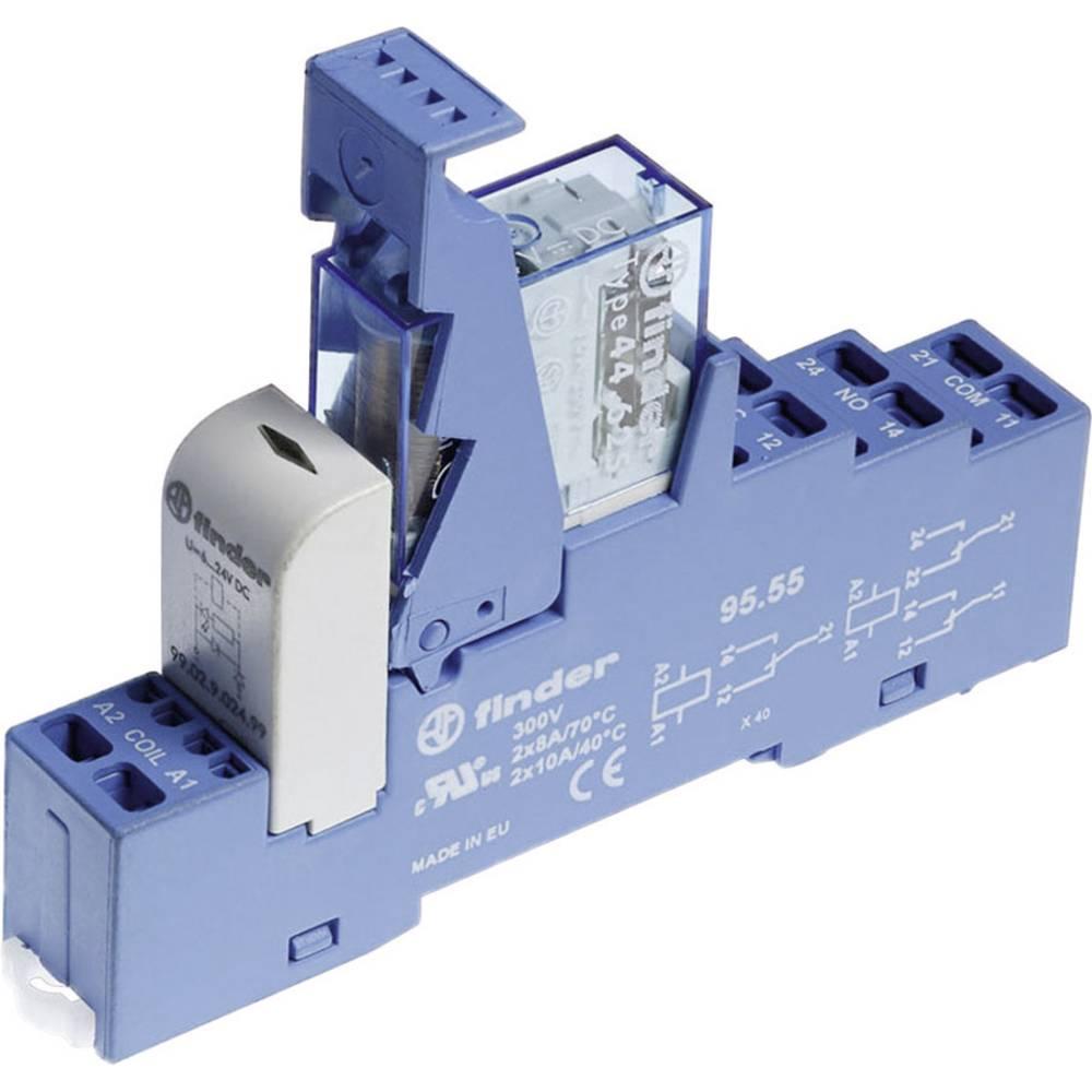 Relækomponent 1 stk Finder 48.82.7.024.4050 Nominel spænding: 24 V/DC Brydestrøm (max.): 10 A 2 x omskifter