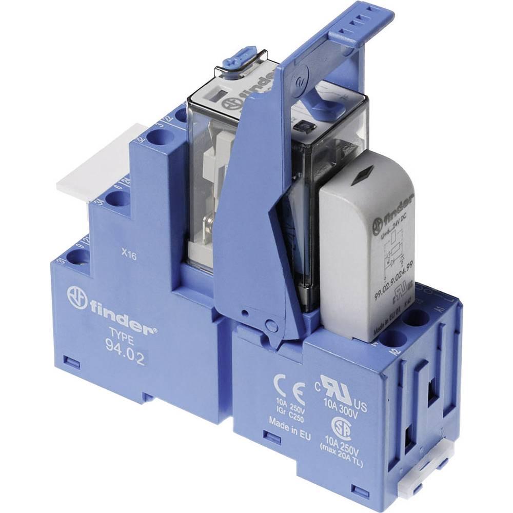 Relækomponent 1 stk Finder 58.32.9.024.0050 Nominel spænding: 24 V/DC Brydestrøm (max.): 10 A 2 x omskifter