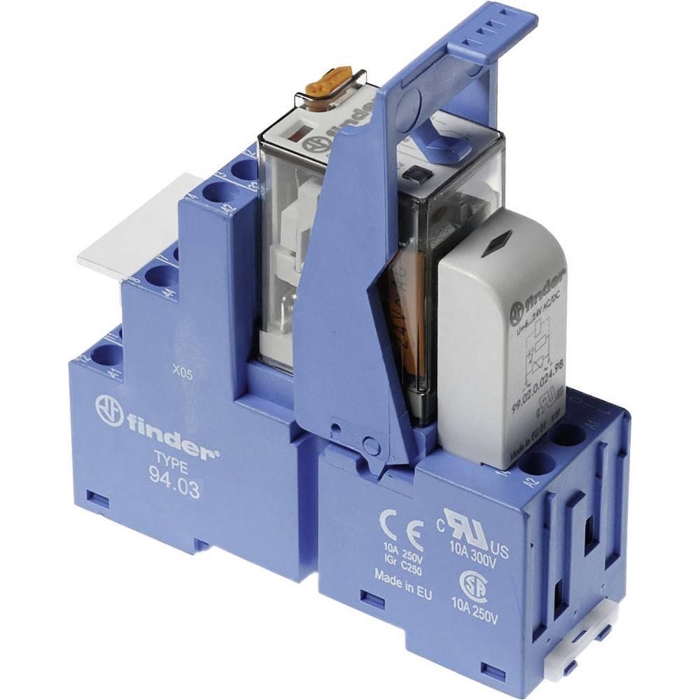 Relækomponent 1 stk Finder 58.33.8.230.0060 Nominel spænding: 230 V/AC Brydestrøm (max.): 10 A 3 x omskifter