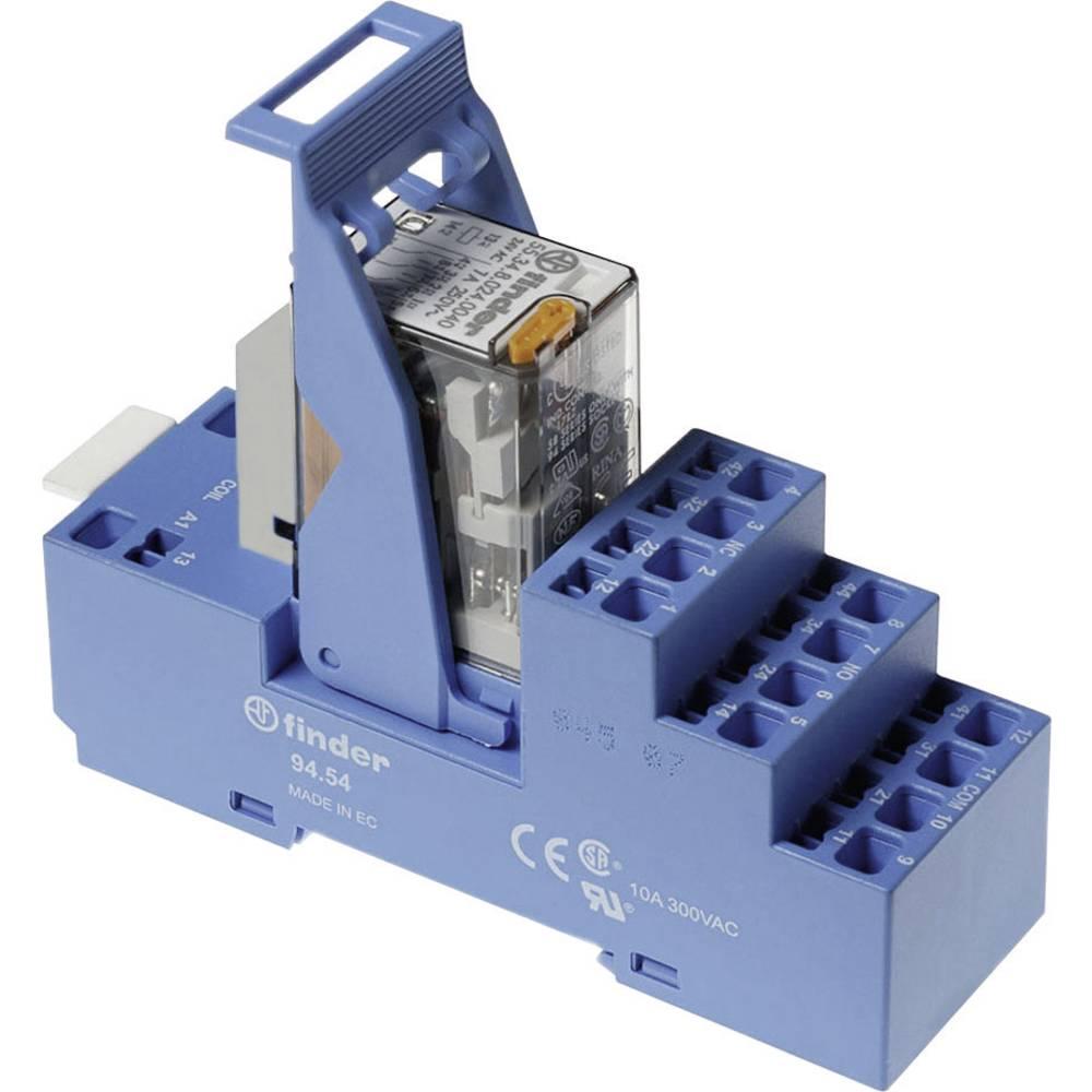 Relækomponent 1 stk Finder 58.54.8.024.0060 Nominel spænding: 24 V/AC Brydestrøm (max.): 7 A 4 x omskifter