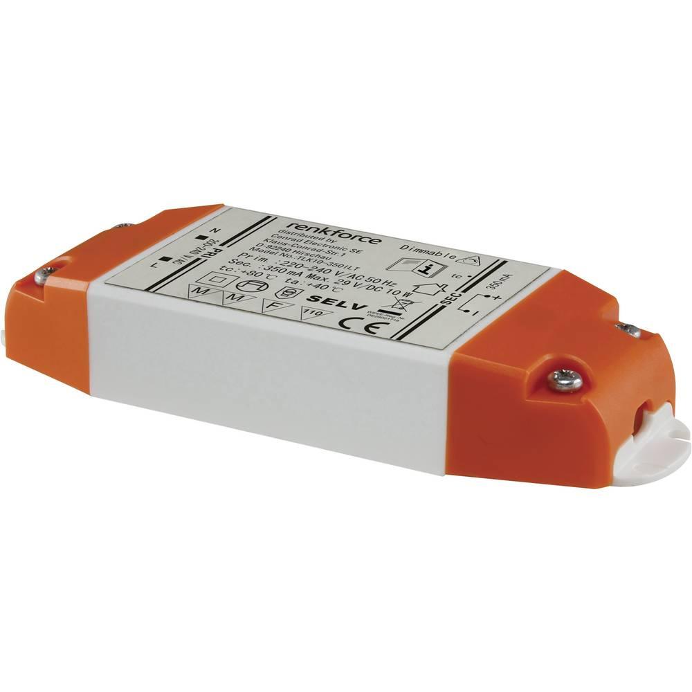 Renkforce LED gonilnik 6-10W 350MA KONSTS 9283c61 bela, oranžna