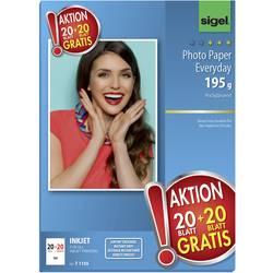 Sigel HOT DEAL Inkjet Everyday foto papir, 20 listov brezplačno, T1155, DIN A4, 195g / m, visok sijaj, 40 listov